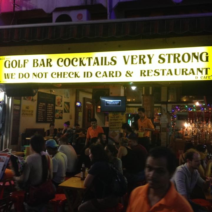 Golf Bar Cocktails KhaoSan Rd. : Khao San - Ratchadamnoen